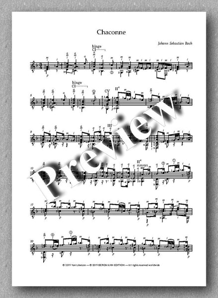 J.S.Bach, Partita No. 2,  BVW 1004 - preview of the music score 5