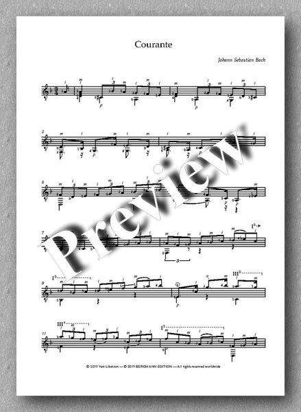 J.S.Bach, Partita No. 2,  BVW 1004 - preview of the music score 2