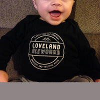 Loveland Aleworks Black Long Sleeve Onesie