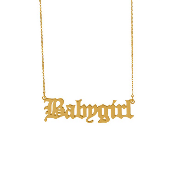 'BABYGIRL' NECKLACE GOLD - Dreizack Jewelry