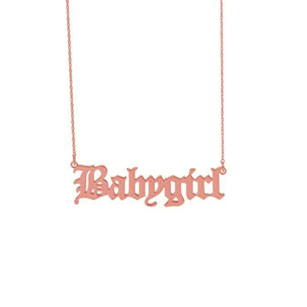 'BABYGIRL' NECKLACE ROSE GOLD - Dreizack