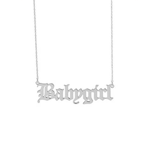 'BABYGIRL' NECKLACE SILVER - Dreizack