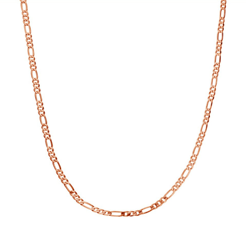 CLASSIC BABY CHAIN NECKLACE ROSE GOLD - Dreizack Jewelry