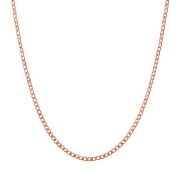CLASSIC CHAIN NECKLACE ROSE GOLD - Dreizack Jewelry