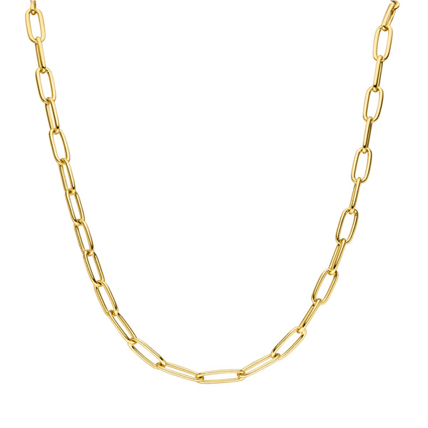 CLASSIC LINK NECKLACE GOLD - Dreizack Jewelry