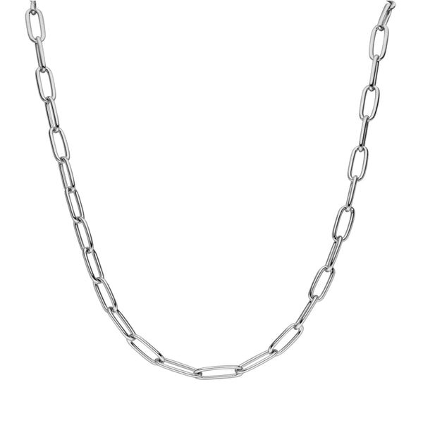 CLASSIC LINK NECKLACE SILVER - Dreizack Jewelry