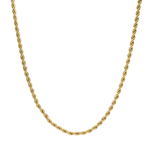 CLASSIC TWISTED NECKLACE GOLD - Dreizack Jewelry