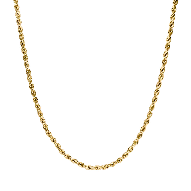 CLASSIC TWISTED NECKLACE GOLD - Dreizack