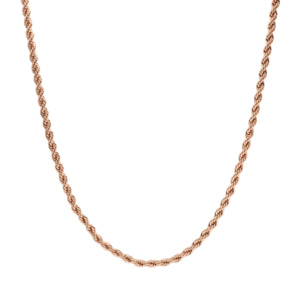 CLASSIC TWISTED NECKLACE ROSE GOLD - Dreizack Jewelry