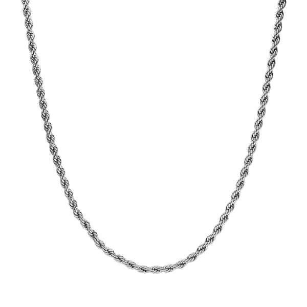 CLASSIC TWISTED NECKLACE SILVER - Dreizack Jewelry