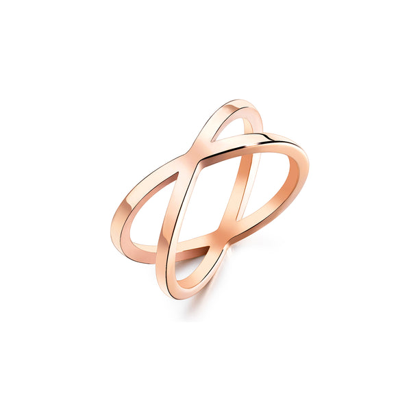 CROSS RING ROSE GOLD - Dreizack Jewelry