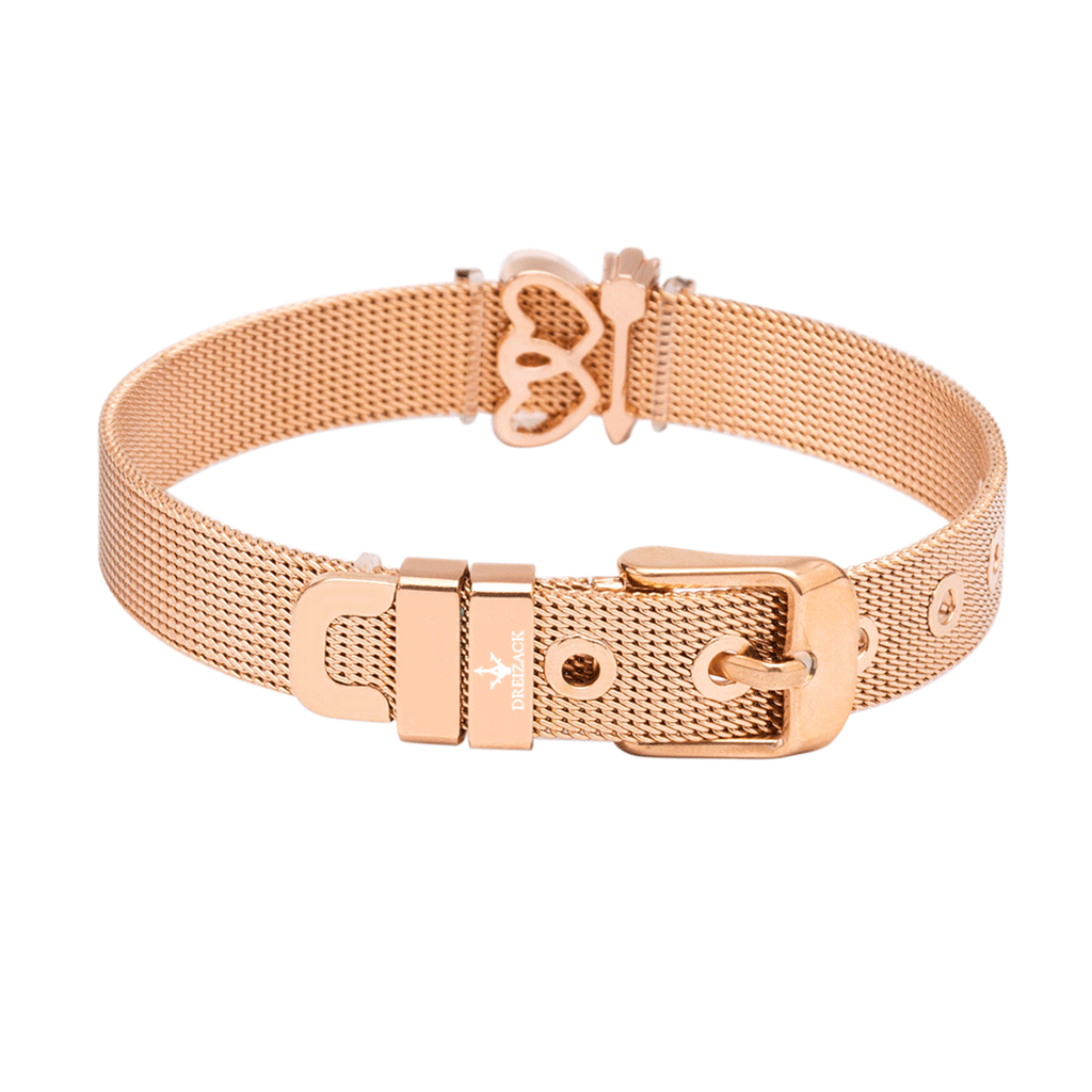 dreizack crush on you charmband set rosegold