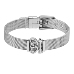 dreizack crush on you charmband set silver
