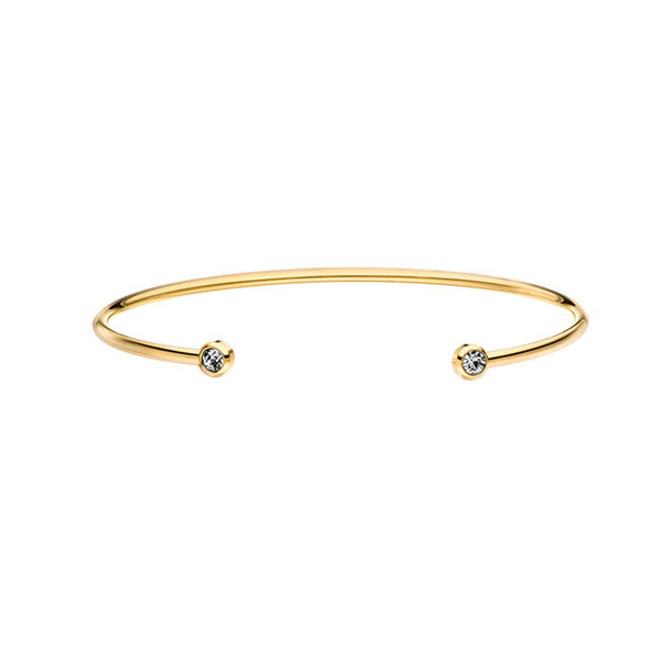 DIAMOND BANGLE GOLD - Dreizack Jewelry
