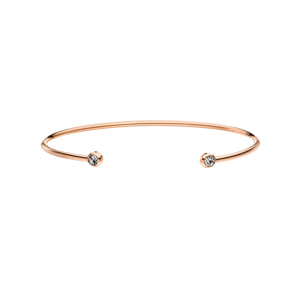 DIAMOND BANGLE ROSE GOLD - Dreizack Jewelry