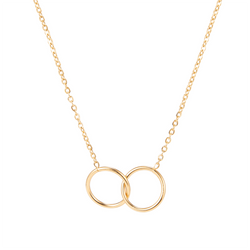 DOUBLE CIRCLE NECKLACE GOLD - Dreizack Jewelry