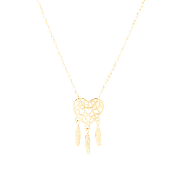 'DREAMCATCHER' NECKLACE GOLD - Dreizack