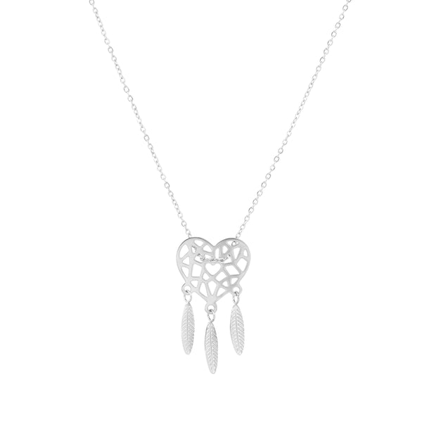 'DREAMCATCHER' NECKLACE SILVER - Dreizack