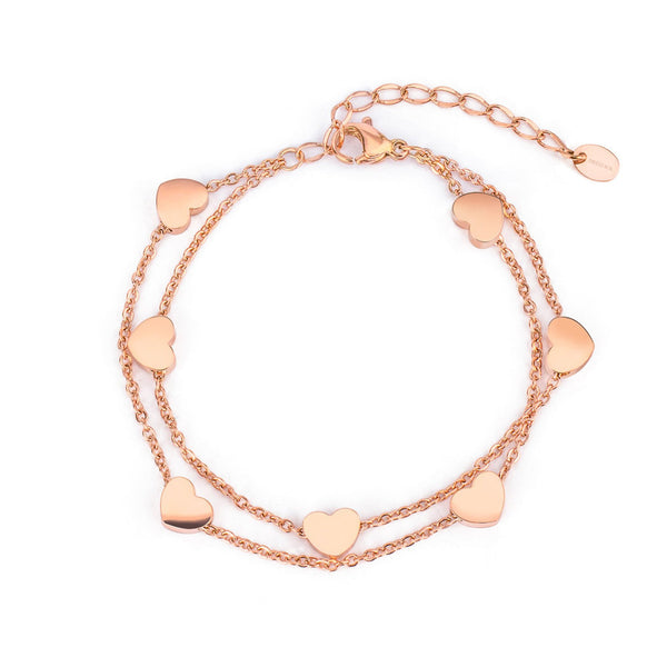 'ENDLESS LOVE' BRACELET ROSE GOLD - Dreizack Jewelry