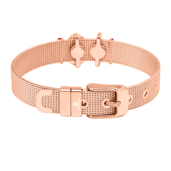 'ENDLESS UNIQUENESS' CHARMBAND SET ROSE GOLD - Dreizack Jewelry