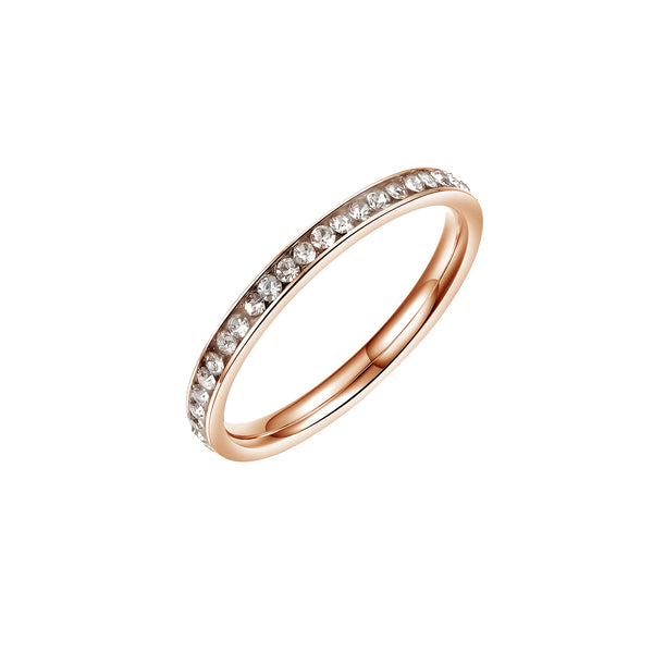 ETERNITY RING ROSE GOLD - Dreizack Jewelry