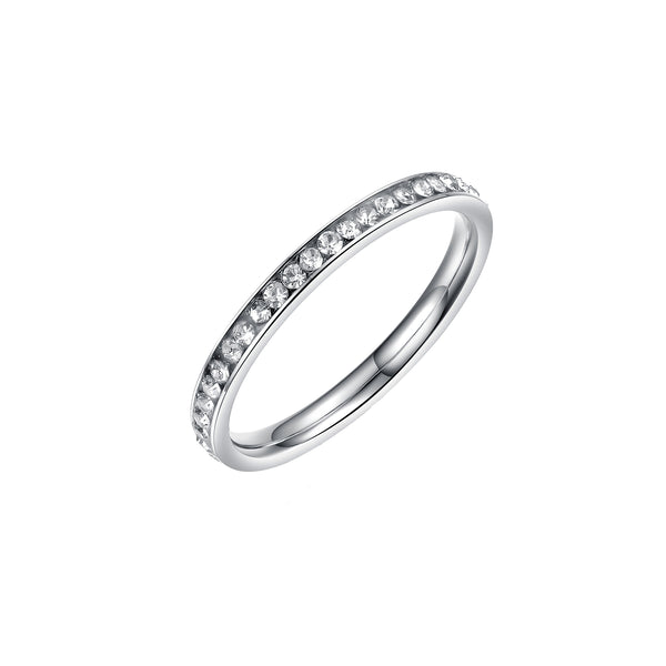 ETERNITY RING SILVER - Dreizack Jewelry