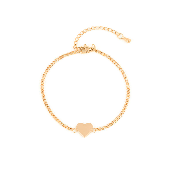 HEART BRACELET GOLD - Dreizack Jewelry