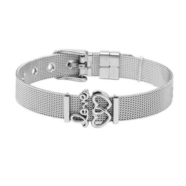 dreizack love is beautiful charmband set silver