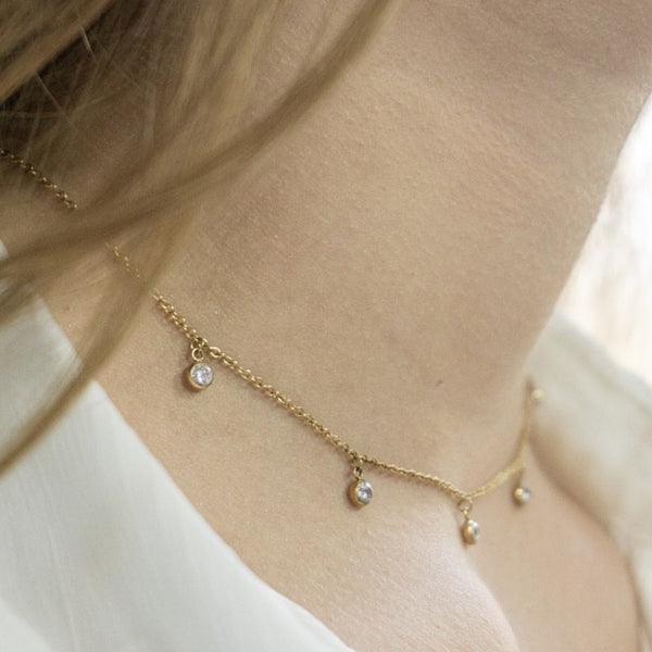 'MAGIC DROP' CHOKER GOLD - Dreizack