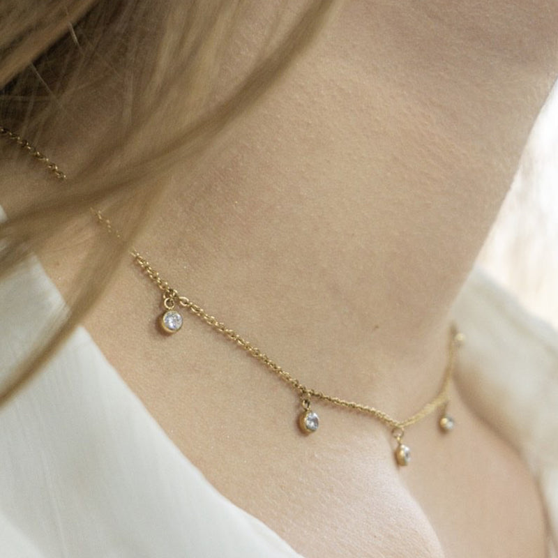 'MAGIC DROP' CHOKER GOLD - Dreizack Jewelry