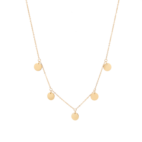 dreizack multi coin necklace gold halskette