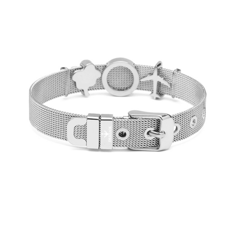 dreizack travel the world charmband set silver