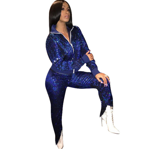 2 Piece Blue Sparkly outfit