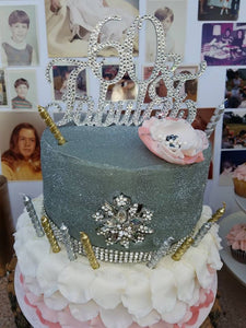 Custom Swarovski Crystal 60 Fabulous Birthday Cake Toppers In Any Number 60th