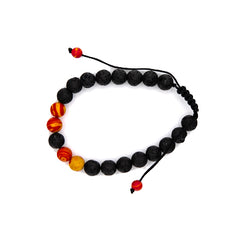 Orange+ Yellow 8MM Malachite Lava Stone Diffuser Bracelet