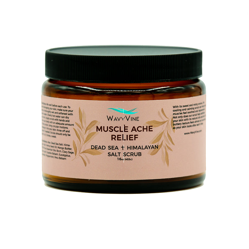 Muscle Ache Relief Dead Sea + Himalayan Salt Scrub