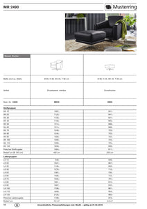 Musterring Sofa MR 2490