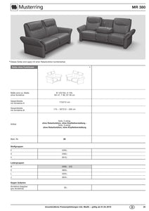 Musterring Sofa MR 380