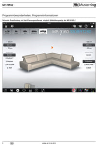 Musterring Sofa MR 9160