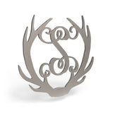 Antler Wooden Monogram Sign