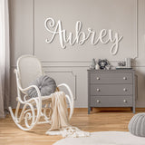 Aubrey Font - Wooden Monogram Sign