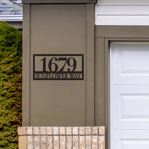 Metal Rectangle Address Sign