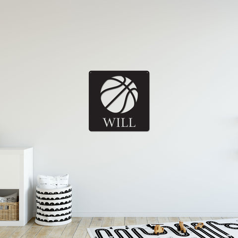 Personalized Basketball Sign