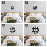 Circle 3-Letter Wood Monogram Sign