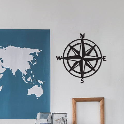 Metal Compass Sign