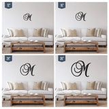 Curved Letter Wooden Monogram Sign