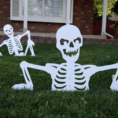Halloween Skeleton Yard Art Set