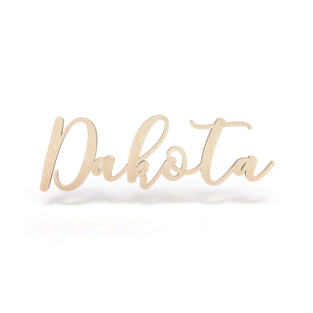 Dakota Font - Wooden Monogram Sign
