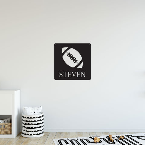 Personalized Football Sign