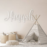 Hannah Font - Wooden Monogram Sign